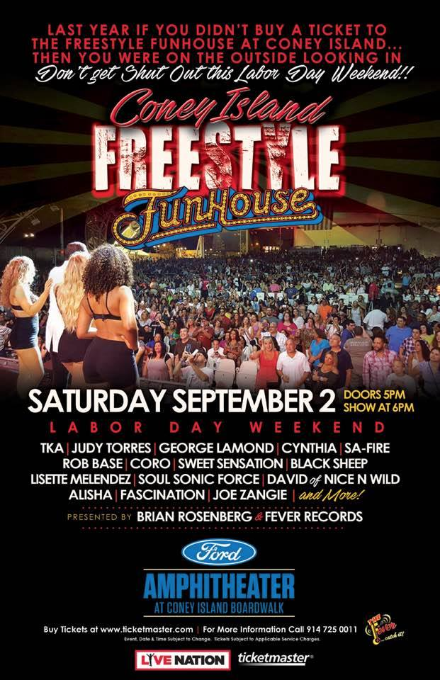 CONEY ISLAND FREESTYLE FUNHOUSE 2017 FLYER