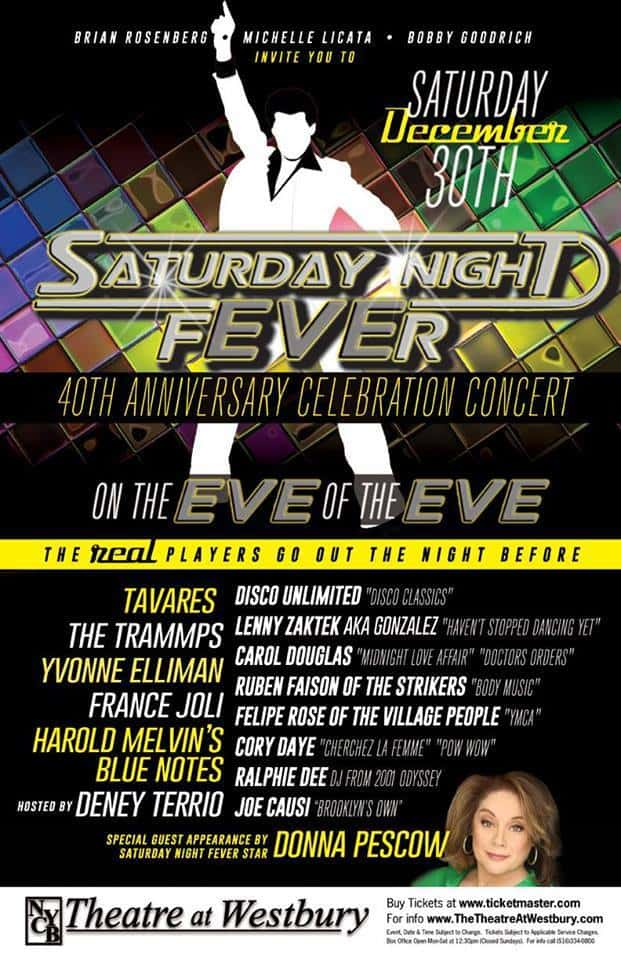 SATURDAY NIGHT FEVER 40TH ANNIVERSARY 2017 FLYER