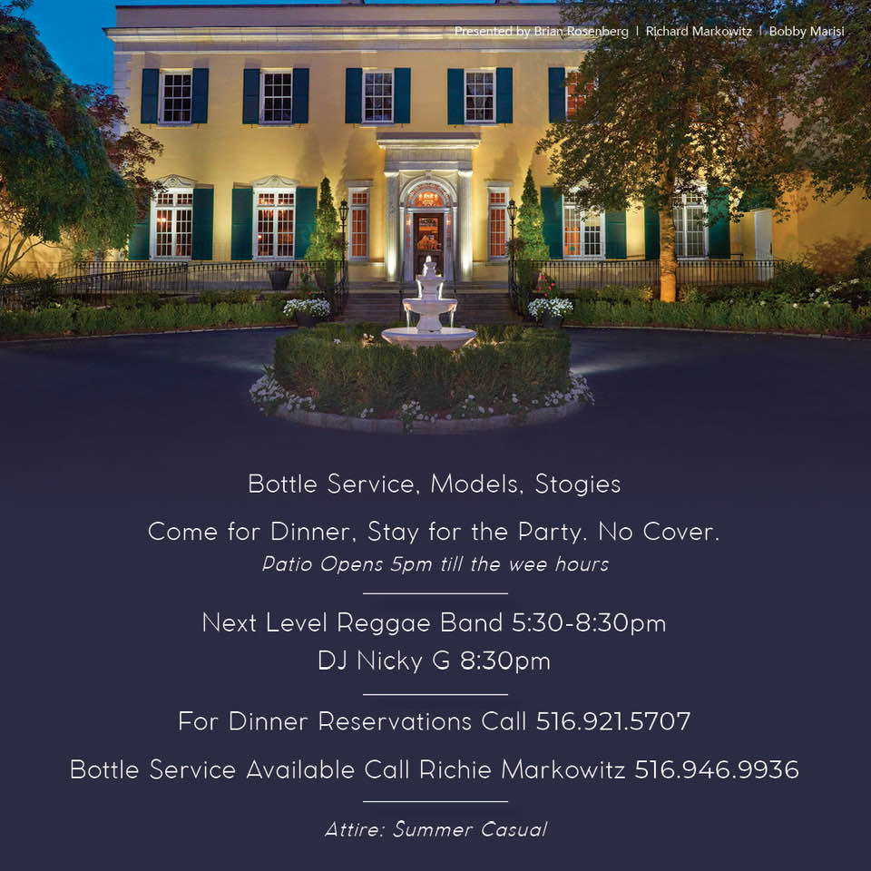 Tuesdays at Mansion in Oyster Bay